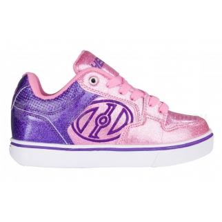 Heelys Motion Plus Purple/Pink Glitter