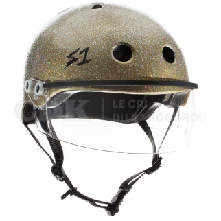 S1 LIFER VISOR gold glitter medium
