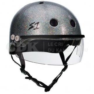 S1 Lifer Visor Helmet Argent Gloss Glitter