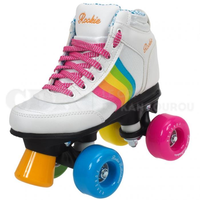 forever rainbow blanc roller quad patins roulettes cdk. Black Bedroom Furniture Sets. Home Design Ideas