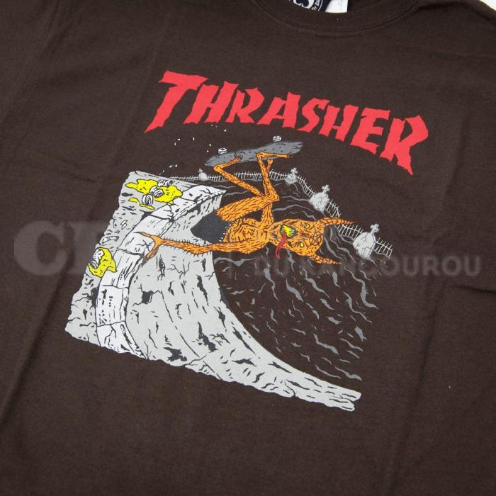 8297f2e62d34 Thrasher T Shirt Neckface Invert Brown. Loading zoom