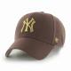 CAP MLB NEW YORK YANKEES METALLIC SNAP MVP BROWN