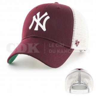 CAP MLB NEW YORK YANKEES BRANSON MVP DARK MAROON WHITE