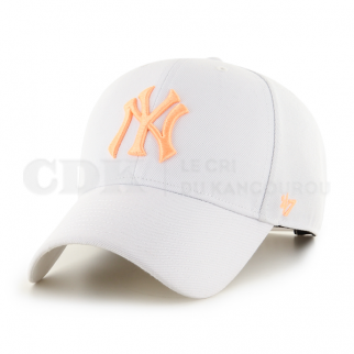 CAP MLB NEW YORK YANKEES MVP SNAPBACK WHITE ORANGE