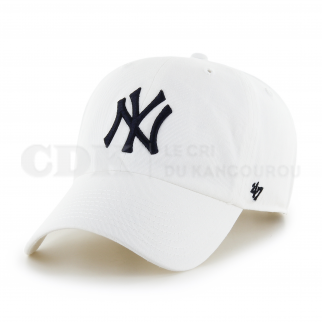 CAP MLB NEW YORK YANKEES CLEAN UP WHITE BLACK