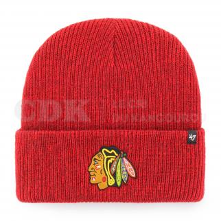 BEANIE NHL CHICAGO BLACKHAWKS BRAIN FREEZE CUFF KNIT RED