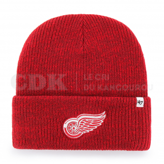 BEANIE NHL DETROIT RED WINGS BRAIN FREEZE CUFF KNIT RED