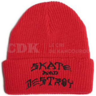 Beanie SAD Embroidered Red