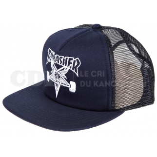 Thrasher Mesh Cap Sk8 Goat Embroidered Navy/White