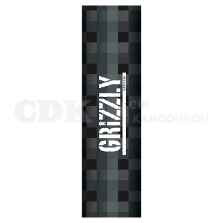 Grizzly Grip Plaque Stamp Plaid Charcoal