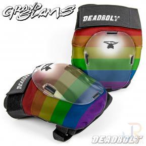 Deadbolt Grand Slam  Knee Pads Rainbow