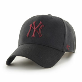 CAP MLB NEW YORK YANKEES MVP SNAPBACK BLACK MAROON