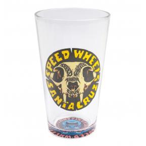 Skull Pint Glass Clear
