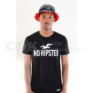 No Hipster Tshirt Noir
