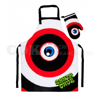 Santa Cruz Barbecue Set Rob Eye Apron w/Mitt