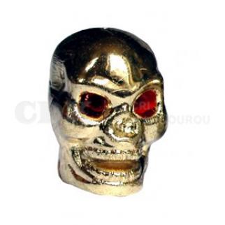 Bouchon de valve Crâne doré