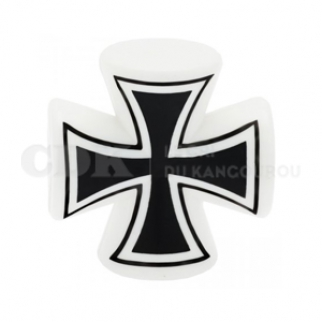 Bouchon de valve Grosse croix Blanche
