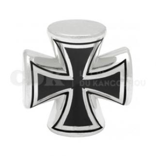Bouchon de valve Grosse croix chromée