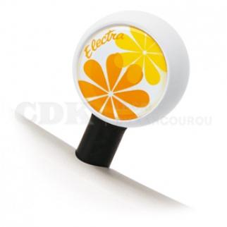 Bouchon de valve Grosse fleur jaune