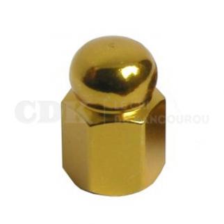 Bouchon de valve Ecrou doré