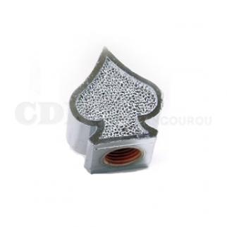 Bouchon de valve Pique chromé