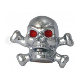 Bouchon de valve tête de mort chromée