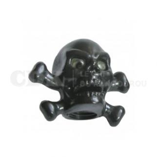 Bouchon de valve Tête de mort noire